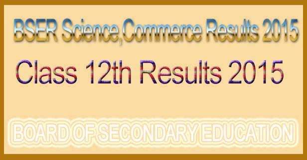 RBSE 12th science result 2015