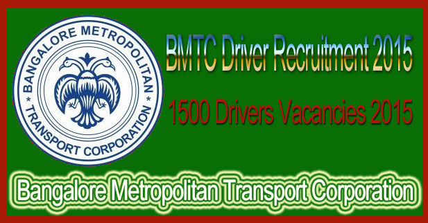BMTC Driver Recruitment 2015