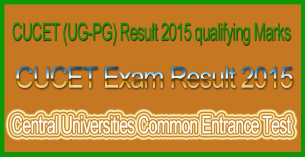 CUCET exam result 2015