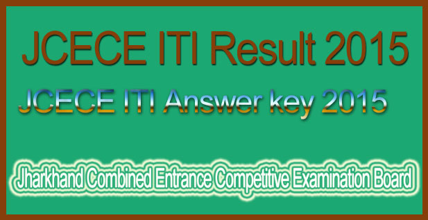 JCECE ITI answer key 2015