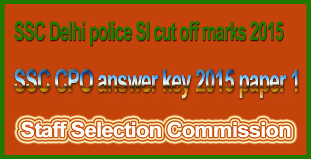 SSC CPO answer key 2015