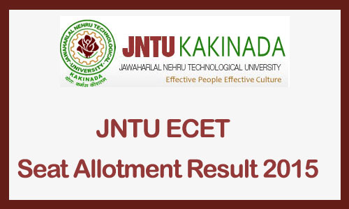 ECET Seat allotment results 2015