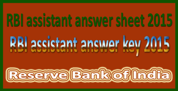 RBI assistant answer key 2016