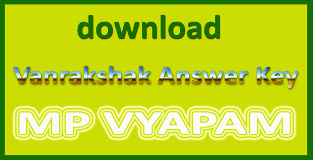 MP Forest Answer Key 2017
