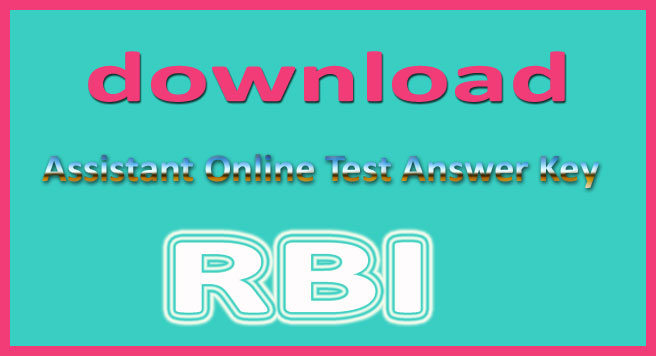 RBI assistant answer key 2015,
