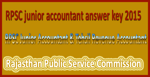 RPSC junior accountant answer key 2015