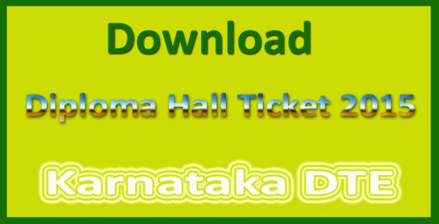 Karnataka diploma hall ticket 2015