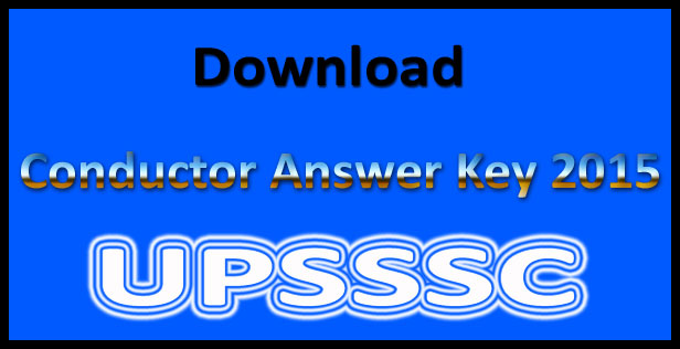 UP conductor answer key 2015