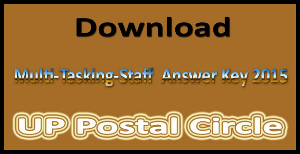 UP post office MTS answer key 2015