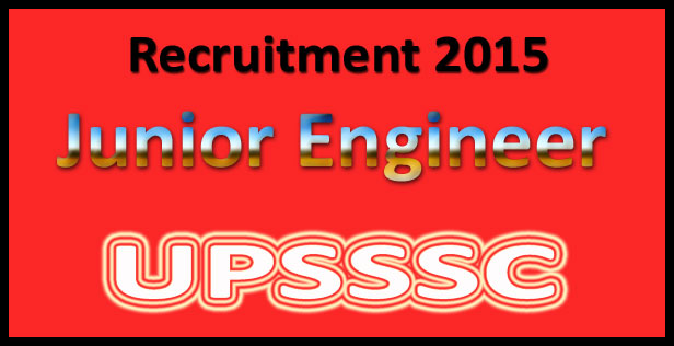UPSSSC JE recruitment 2015