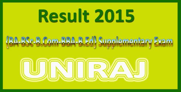 Uniraj BA supplementary result 2015