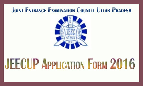 JEECUP application form 2016
