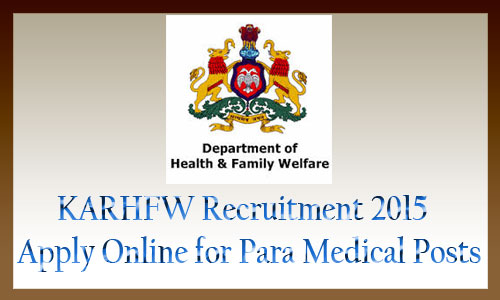 KARHFW recruitment 2015