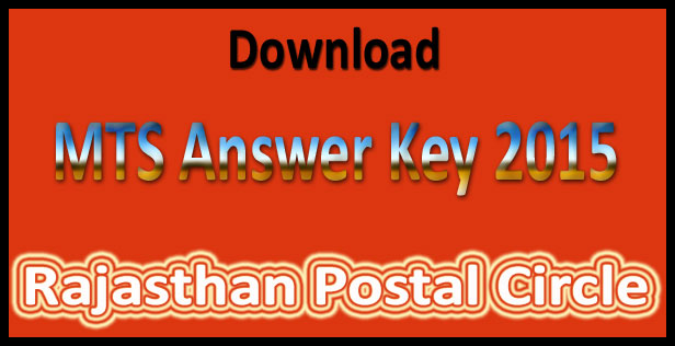 Rajasthan MTS answer key 2015