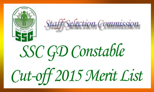 SSC GD constable cut off 2015