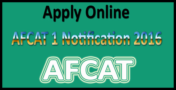 AFCAT 2017 notification