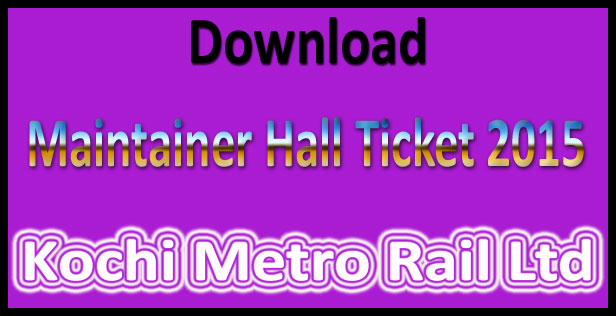 Kochi metro rail hall ticket 2015