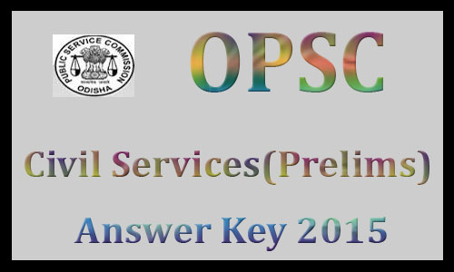 OPSC civil service answer key 2015