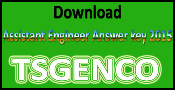 TSGENCO AE answer key 2015