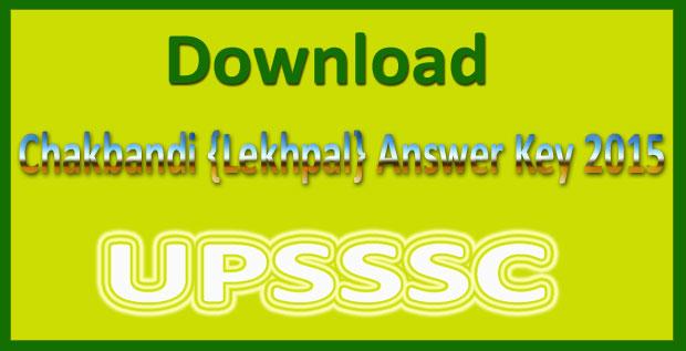 UP chakbandi lekhpal answer key 2015