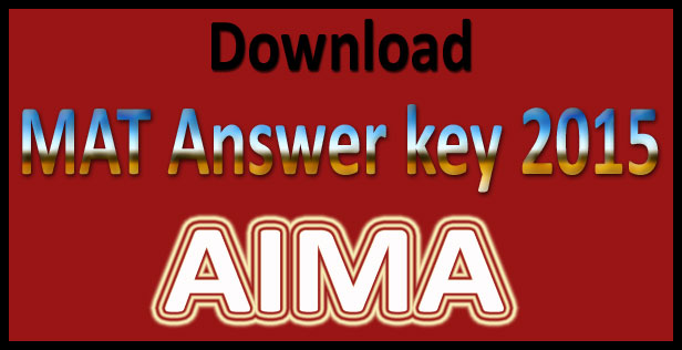 MAT answer key 2015