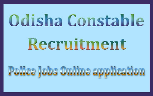 Odisha police constable recruitment 2016