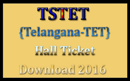 TS TET hall ticket 2016
