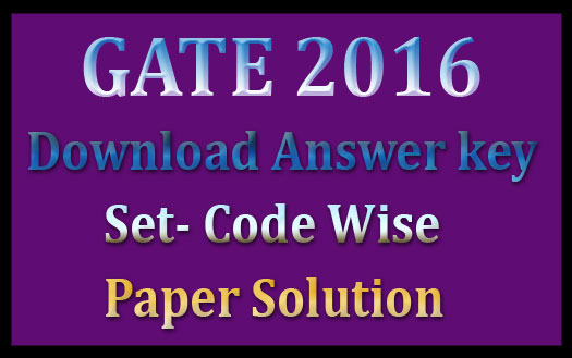 GATE mechanical answer key 2016