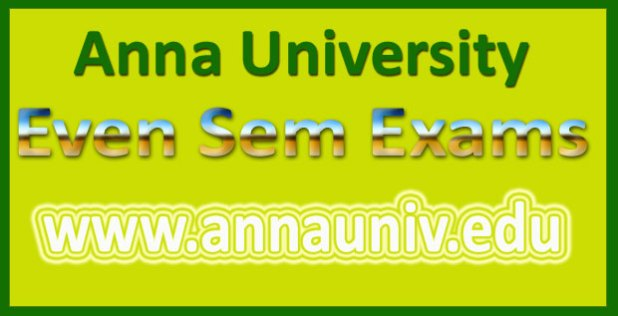 Anna university time table April May 2016