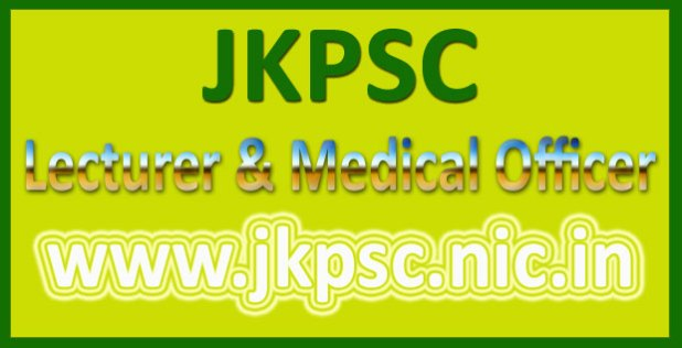 JKPSC lecturer recruitment 2016