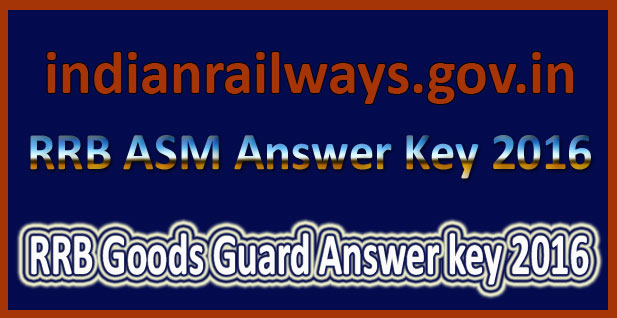 RRB goods guard answer key 2016