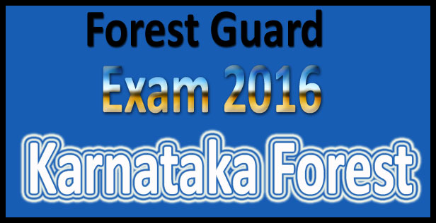 Karnataka forest department syllabus 2016