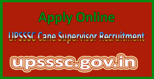 UPSSSC cane supervisor recruitment 2016