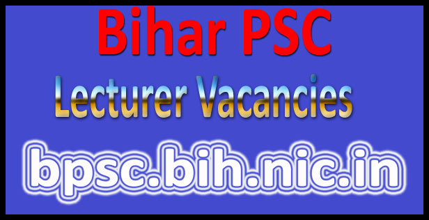 Bihar PSC lecturer recruitment 2016