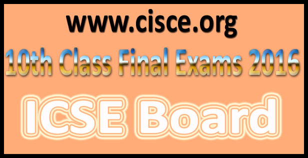 ICSE 10th Board Result 2016