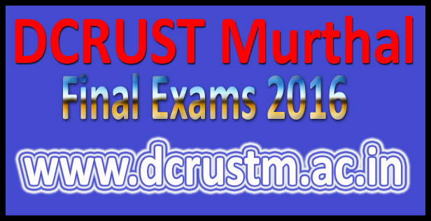 Murthal University Results 2016