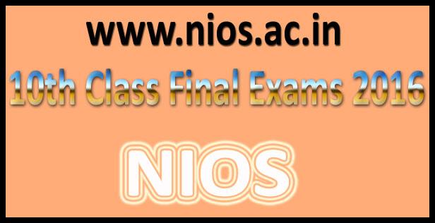 NIOS Class 10 Result 2016
