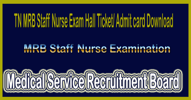 TN MRB nurse admit card 2017