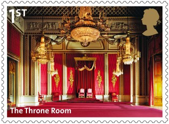 throne palace buckingham room royal queen stamp stamps king background class inside rooms mail 1st british drawing museum released paintings
