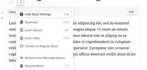 You can choose reusable blocks.