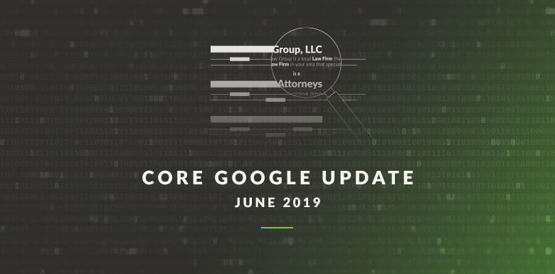 Graphic about algorithm update