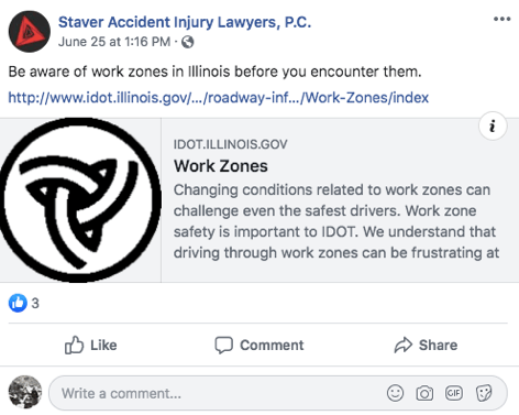 Law firm facebook shared post