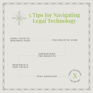 5 tips for navigating legal tech