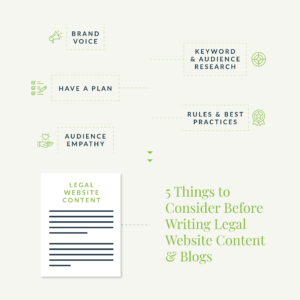 5 Things to Consider Before Writing Legal Web Content