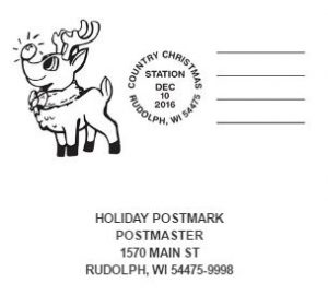 Video: Rudolph, Wisconsin post office is extra busy for