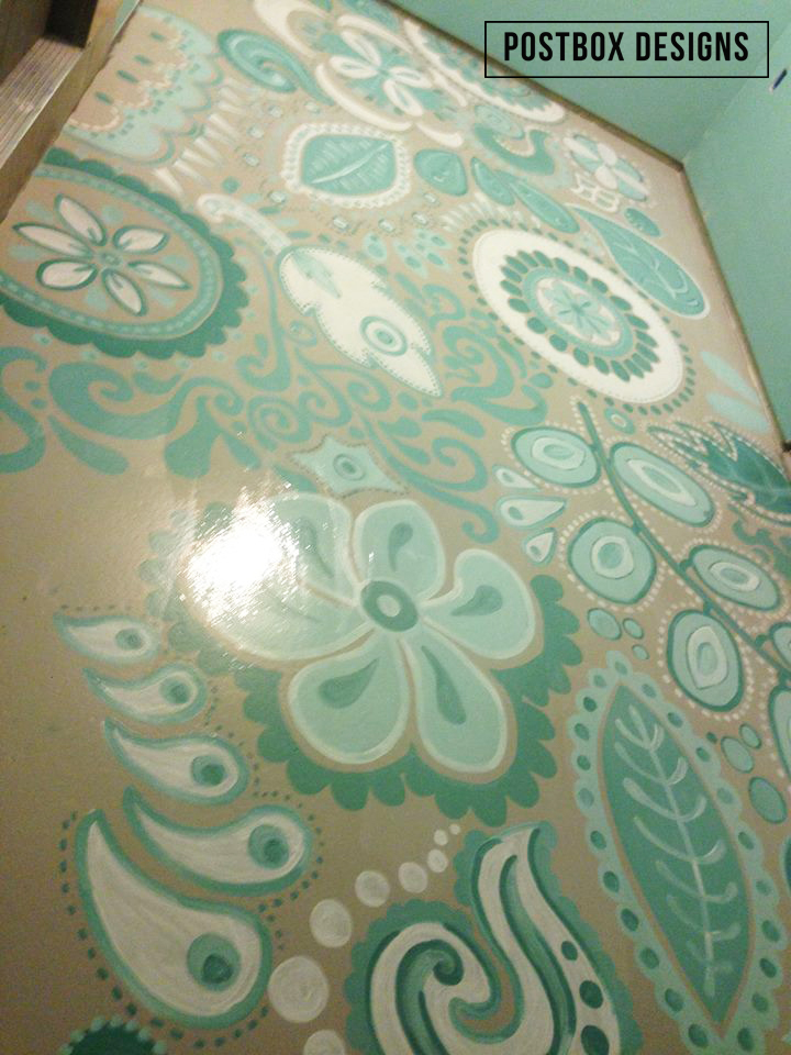 My Very Own Mudroom Makeover Reveal 80 Painted Floors