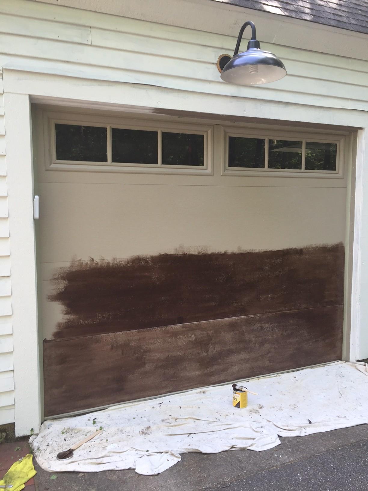 My $57 Garage Door Makeover: How to Knock Off Expensive ... on Garage Door Ideas  id=80327