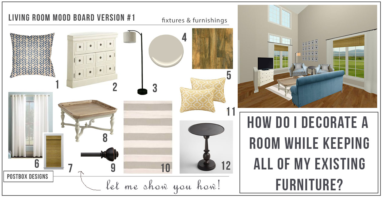 how to makeover a room keeping your existing furniture: a