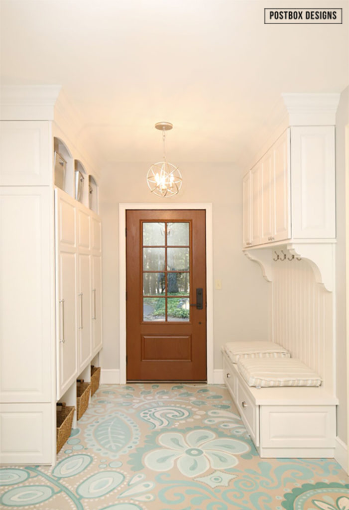 My Mudroom Floors 80 Makeover How To Paint Your Ugly Concrete Floors Postbox Designs