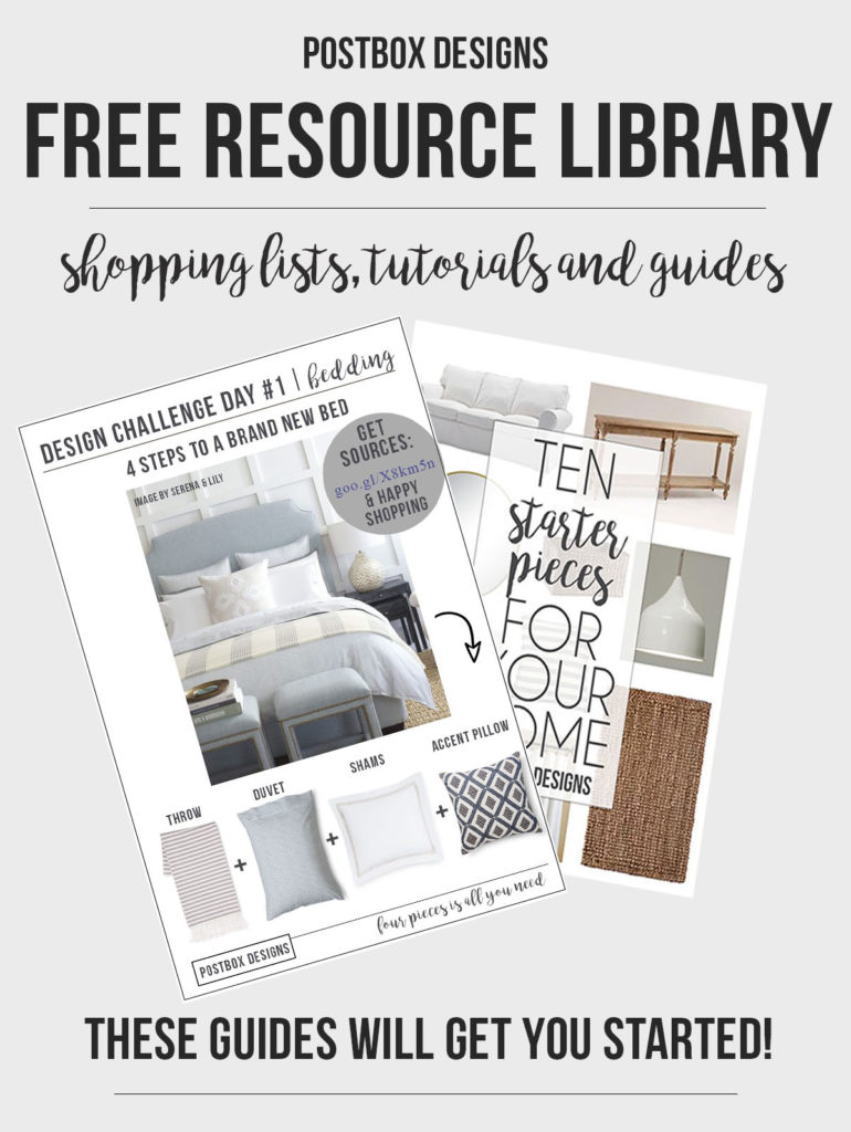 Postbox Designs E-Design: Free Resource Library